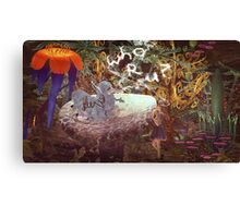 Alice N The Hookah Caterpillar Canvas Print