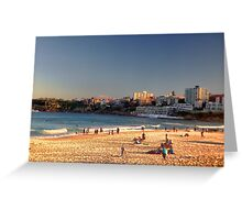 Late Winter Afternoon Bondi Beach Greeting Card