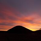 Silbury Red Sunset by Steve Marshall