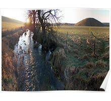 Silbury River Kennet Poster