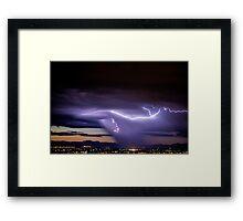 Blue Lightning Framed Print