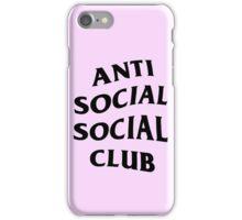 Anti Social Club  iPhone Case/Skin