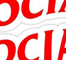 Red Anti Social Club Sticker