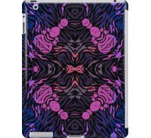 Pink Blue Zebra Abstract Pattern  iPad Case/Skin