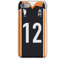 Karasuno Jersey - #12 Yamaguchi Tadashi iPhone Case/Skin