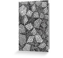 Black and White Abstract Geometric Star Pattern Greeting Card