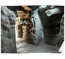 West Kennet long barrow Interior (1) Poster