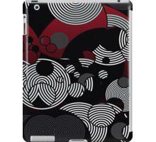 Black Burgundy Round Abstract Pattern  iPad Case/Skin