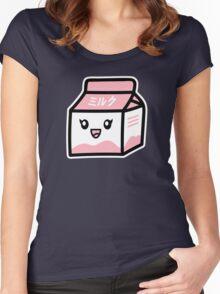 ミルク / Milk [Pink] Women's Fitted Scoop T-Shirt