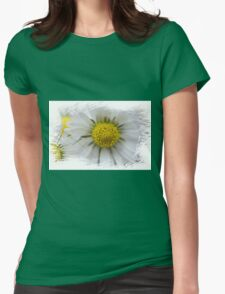 white daisies in spring Womens Fitted T-Shirt