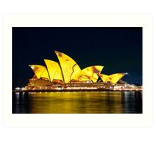 Yellow Opera House Art Print