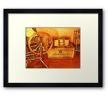 Pioneer Parlour - Many A Yarn Spun Here Framed Print