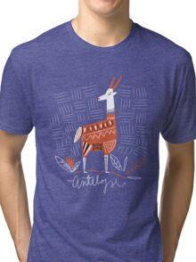 Antelope drawing Tri-blend T-Shirt