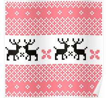 Cute Norwegian knitted pattern Poster