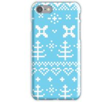 Traditional winter knitted pattern iPhone Case/Skin