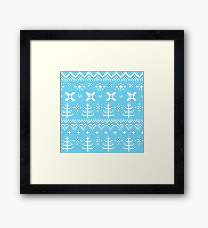 Traditional winter knitted pattern Framed Print