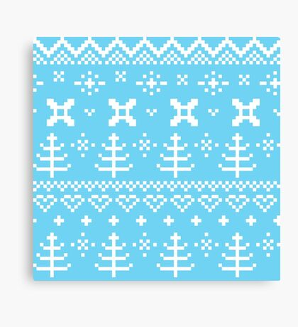 Traditional winter knitted pattern Canvas Print