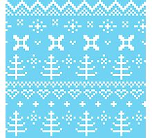 Traditional winter knitted pattern Photographic Print