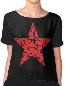 Red Star Vintage Chiffon Top