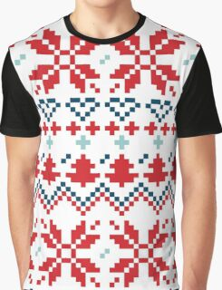 Winter christmas pattern Inspired by Slovakia Graphic T-Shirt