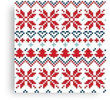 Winter christmas pattern Inspired by Slovakia Canvas Print