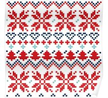 Winter christmas pattern Inspired by Slovakia Poster