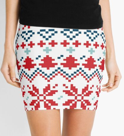 Winter christmas pattern Inspired by Slovakia Mini Skirt