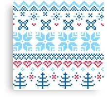 Norway / Slovakia Gift edition = blue + red Canvas Print
