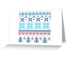 Norway / Slovakia Gift edition = blue + red Greeting Card