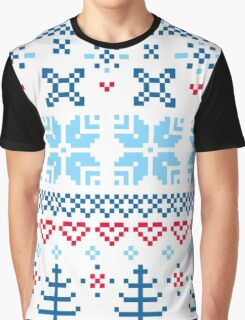 Norway / Slovakia Gift edition = blue + red Graphic T-Shirt