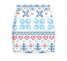 Norway / Slovakia Gift edition = blue + red Mini Skirt