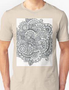 Black And White Zentangle T-Shirt