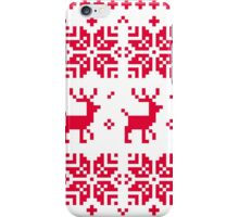 Christmas knitted edition with Reindeers iPhone Case/Skin
