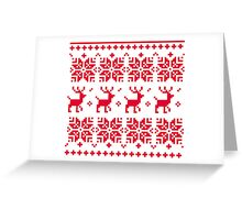 Christmas knitted edition with Reindeers Greeting Card