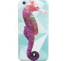 Geometric purple seahorse iPhone Case/Skin