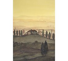 Toscana Sonnenaufgang Photographic Print