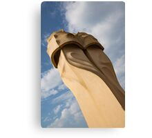 Whimsical Chimneys - Antoni Gaudi's Svelte Pair - Left Canvas Print