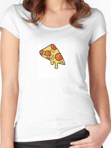 Fabulous Cheesy Pizza Women's Fitted Scoop T-Shirt