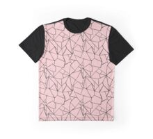 Web Pink and Black Graphic T-Shirt