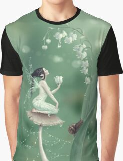 Lily of the Valley Flower Fairy Graphic T-Shirt