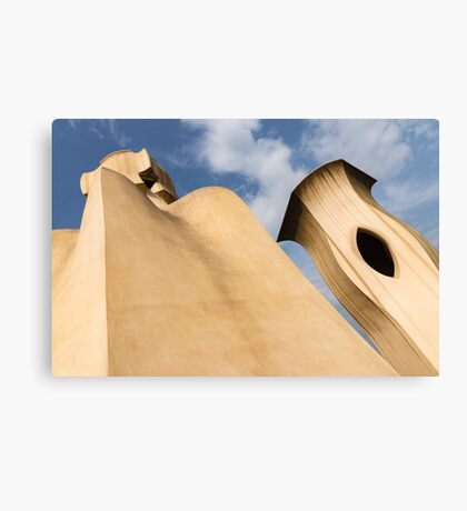 Whimsical Chimneys - Antoni Gaudi Smooth Shapes and Willowy Curves - Left Canvas Print