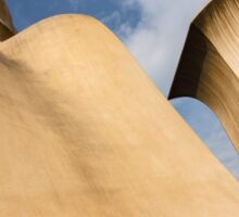 Whimsical Chimneys - Antoni Gaudi Smooth Shapes and Willowy Curves - Left Sticker
