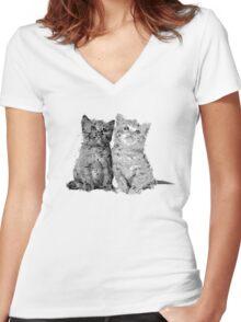 kitties Women's Fitted V-Neck T-Shirt