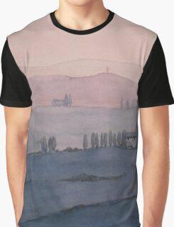 Toscana Sonnenuntergang Graphic T-Shirt