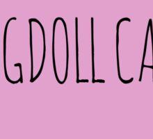 Ragdoll cat love Sticker