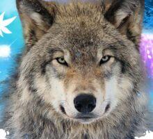 Timber Wolf MidNight Forest Sticker