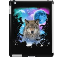 Timber Wolf MidNight Forest iPad Case/Skin