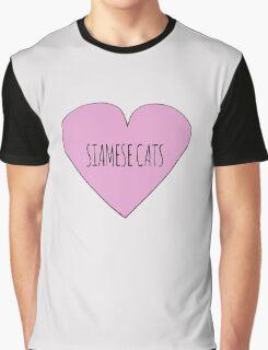Siamese cat love Graphic T-Shirt
