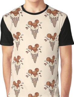 Chocolate Mickey Icecream Splash Graphic T-Shirt