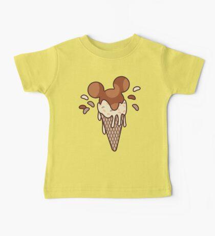 Chocolate Mickey Icecream Splash Baby Tee